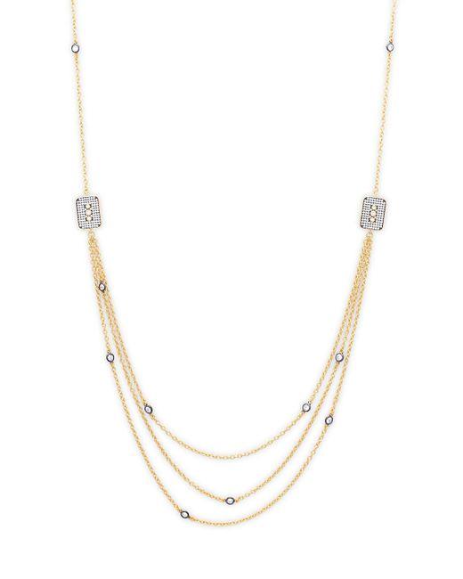 Freida Rothman - Metallic Contemporary Deco Triple Strand Necklace - Lyst