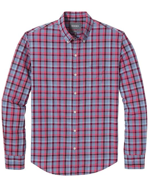 Bonobos Red Washed Button Shirt for men