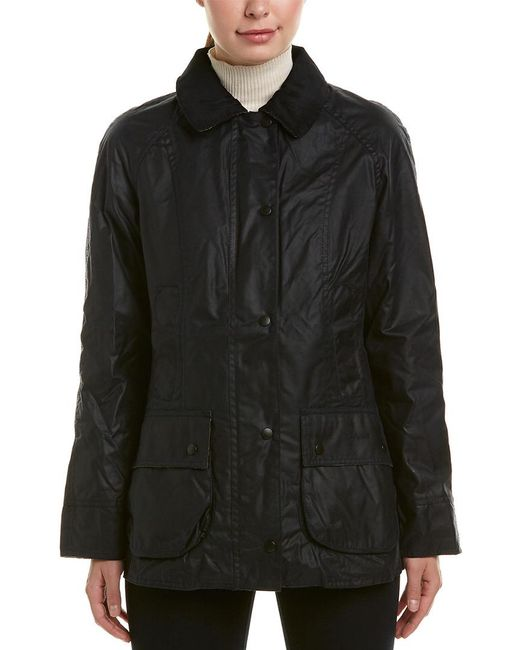 Barbour Blue Beadnell Wax Jacket