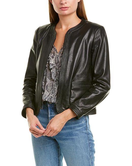 Rebecca Taylor Black Leather Jacket