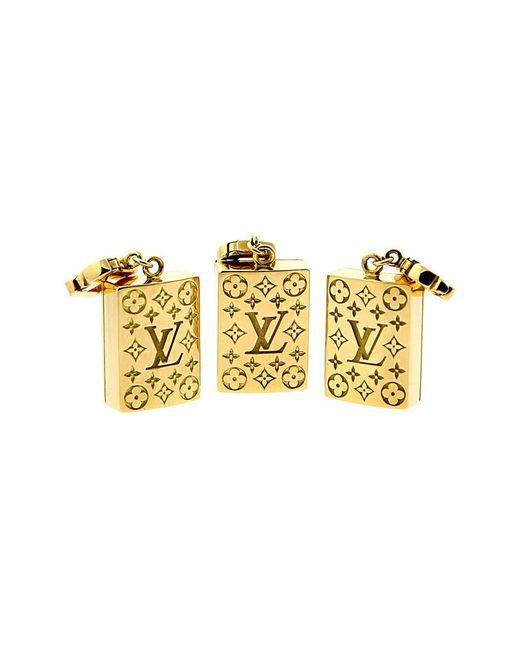 Louis Vuitton Metallic Louis Vuitton Limited Edition Mahjong Tile Gold Set