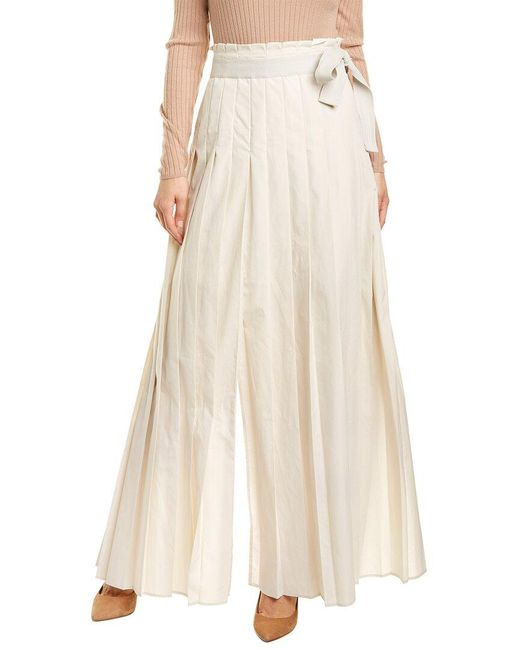 Brunello Cucinelli Brown Maxi Skirt