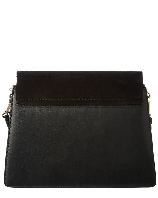 36cac1f0d8 Women's Black Faye Leather And Suede Shoulder Bag