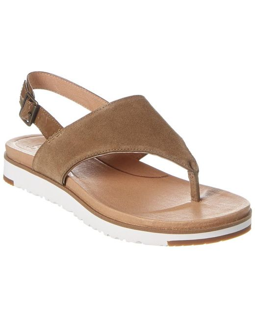 Ugg Women's Brown Alessia Suede Sandal