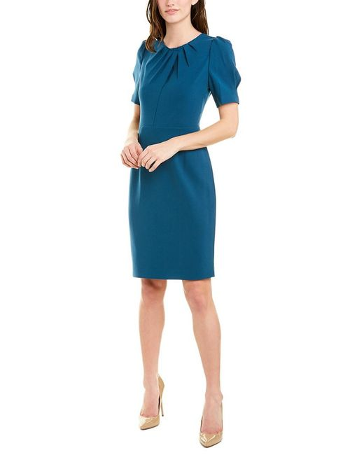 Elie Tahari Blue Sheath Dress