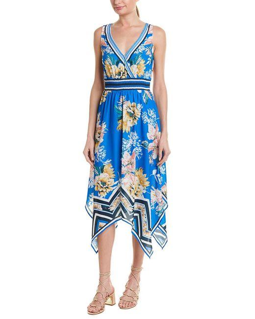 Jealous Tomato Blue Floral Midi Dress