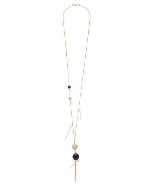 Alexis Bittar | Metallic Elements Pearl & Pave Spike Pendant Necklace | Lyst