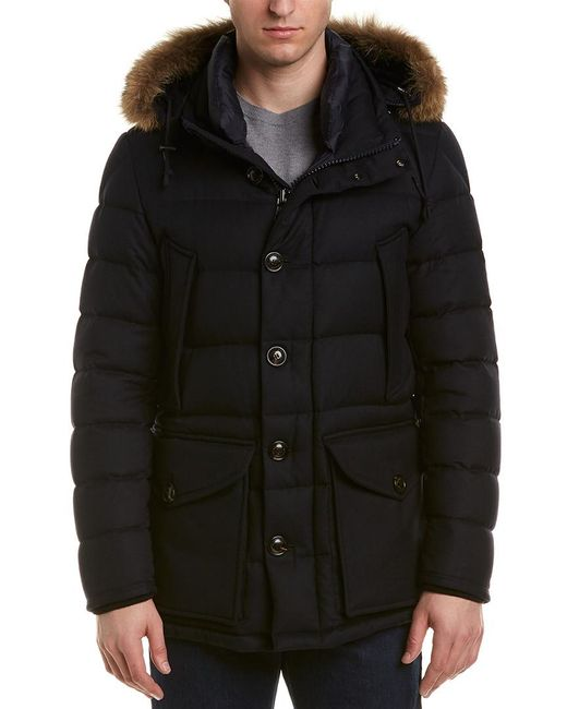 Moncler Blue Rethe Wool Jacket for men