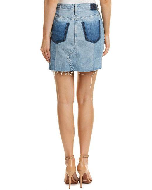 AG Jeans Blue The Sandy Pencil Skirt