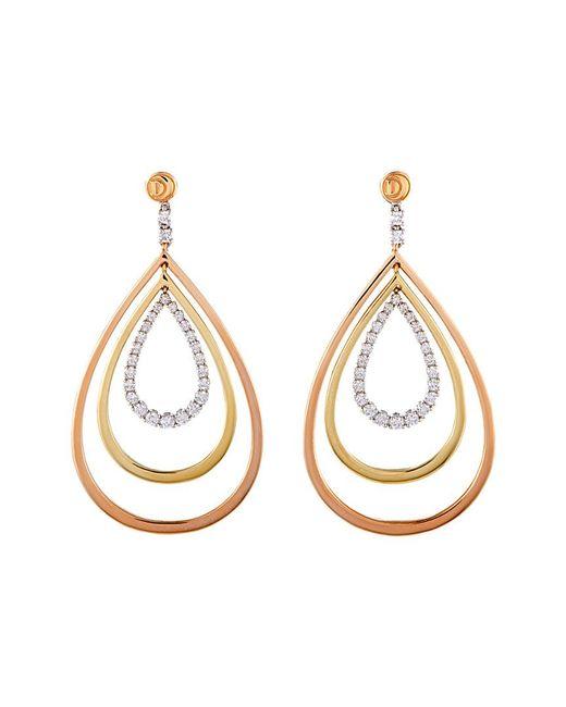 Damiani - Metallic 18k Tri-tone 1.09 Ct. Tw. Diamond Earrings - Lyst
