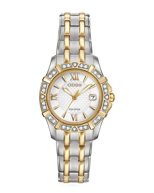 Citizen Metallic Women's Eco-drive Diamond Watch