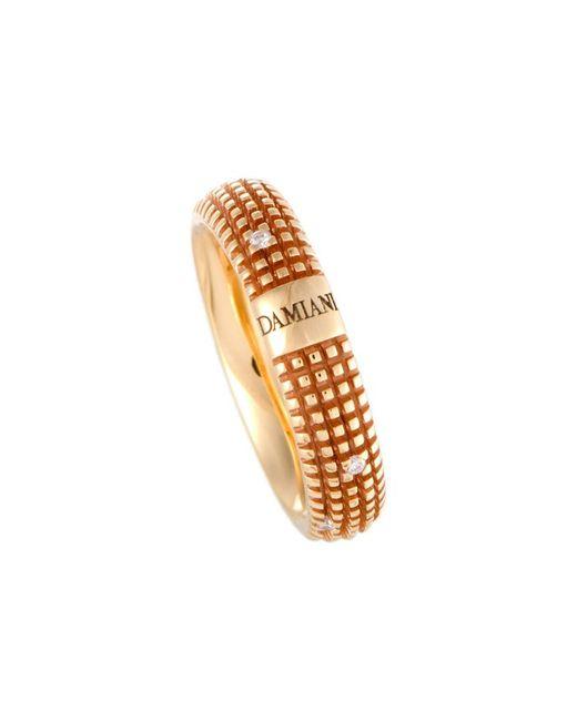 Damiani Metallic 18k Rose Gold Diamond Ring