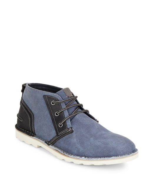 Steve Madden - Gray Lace-up Chukka Boots for Men - Lyst