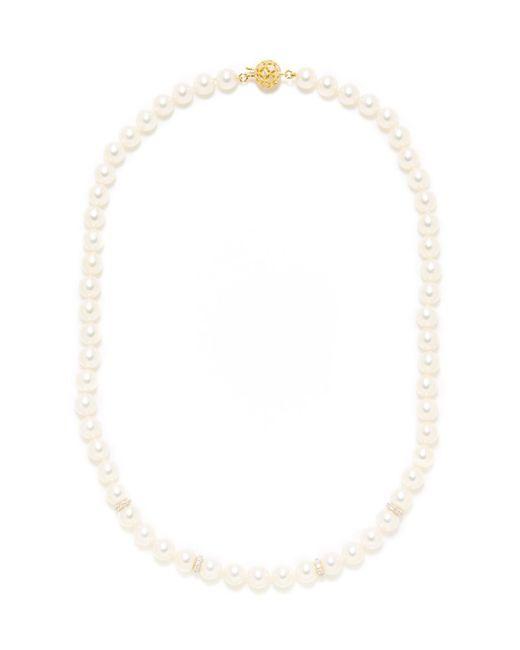 Tara Pearls - Multicolor Diamond Spacer & Akoya Pearl Strand Necklace - Lyst