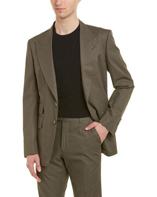 Tom Ford Green 2pc Wool Suit With Flat Pant for men