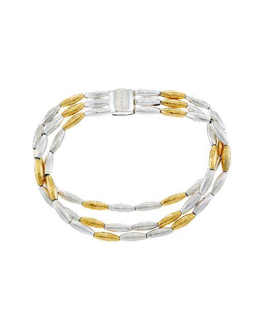 Gurhan - Metallic Wheat 24k Yellow Gold Plated & Silver Bracelet - Lyst