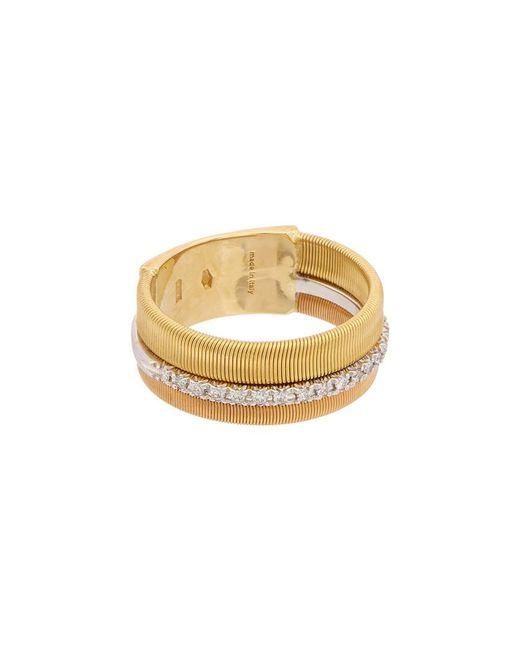 Marco Bicego Metallic Masai 18k Tri-tone .13 Ct. Tw. Diamond Ring
