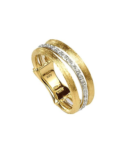 Marco Bicego Metallic Jaipur Link 18k Two-tone 0.12 Ct. Tw. Diamond Ring