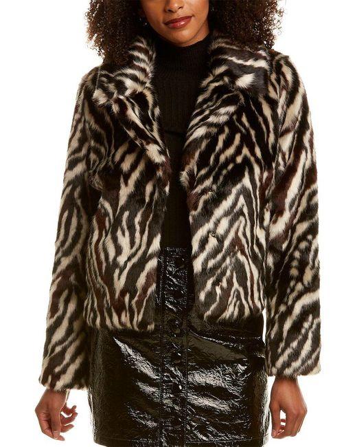 7 For All Mankind Black 7 For All Mankind Zebra Jacket