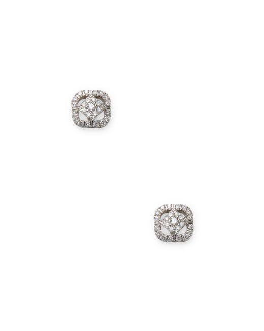 Nephora - Multicolor 14k White Gold Diamond Pendant Earrings - Lyst