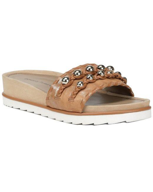 Donald J Pliner Natural Carlie Leather Sandal