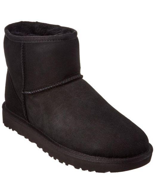 Ugg Black Women's Classic Mini Ii Water-resistant Twinface Sheepskin Boot