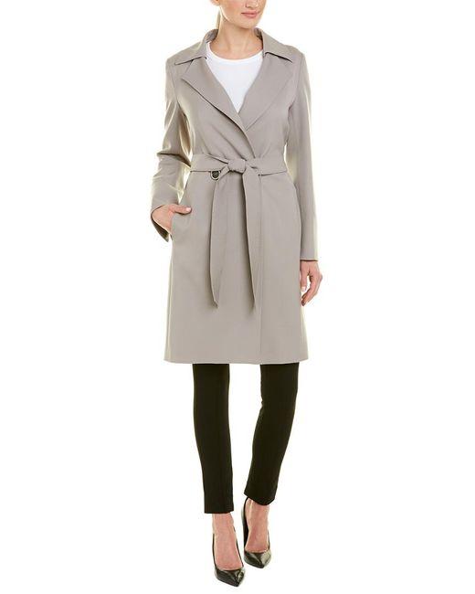 Cinzia Rocca Natural Belted Wool-blend Coat