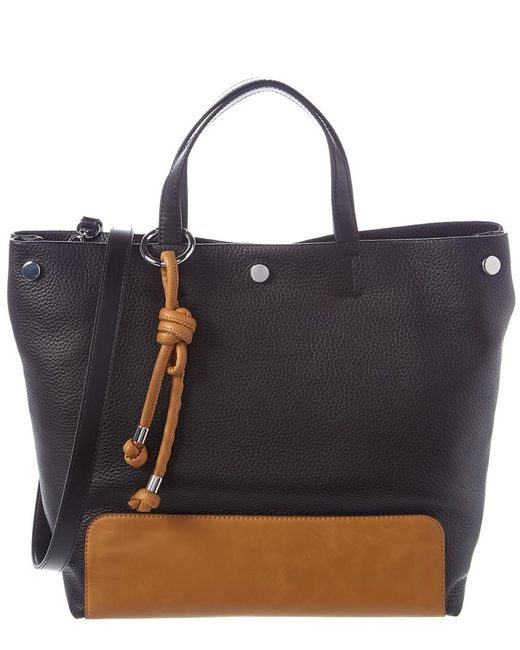Vince Camuto Black Loula Leather Tote