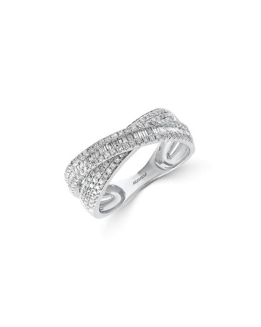 Effy - Metallic Fine Jewelry Classique Diamond & 14k Crisscross Ring - Lyst