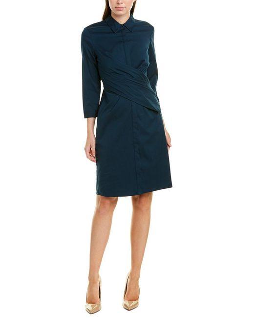 Lafayette 148 New York Blue Daphne Sheath Dress