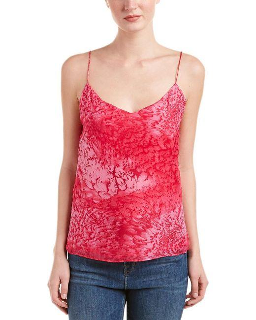 Maje Pink Laetica Silk Top
