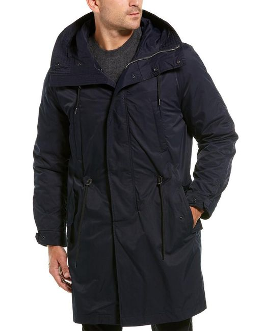 Vince Blue Detachable Lined Parka for men