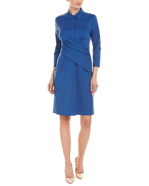 Lafayette 148 New York Blue Daphne Shift Dress