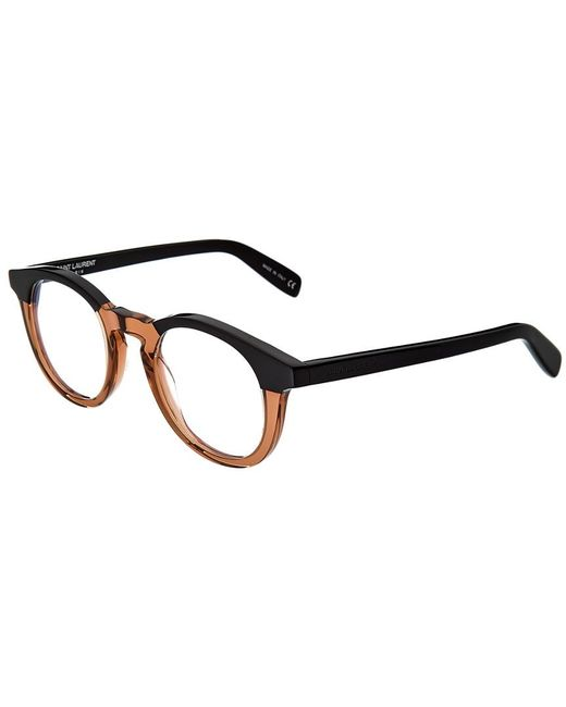 Saint Laurent Black Unisex Sl145 46mm Optical Frames