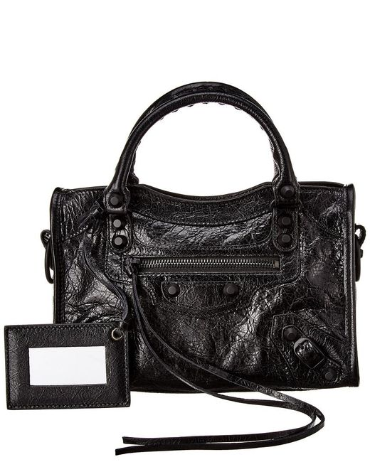Balenciaga Black Classic City Small Leather Shoulder Bag