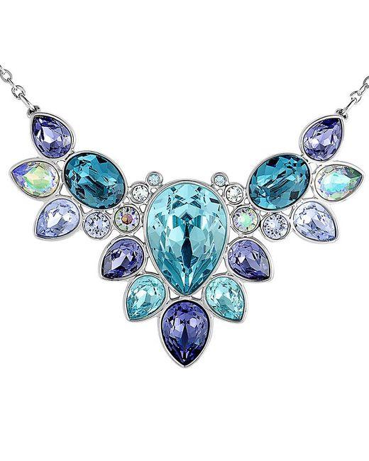 Swarovski Blue Crystal Plated Necklace