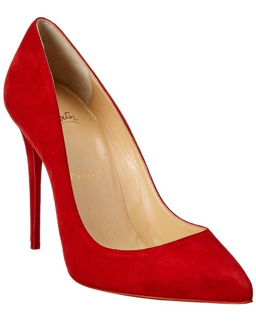 Christian Louboutin - Red Pigalle Follies 100 Suede Pumps - Lyst