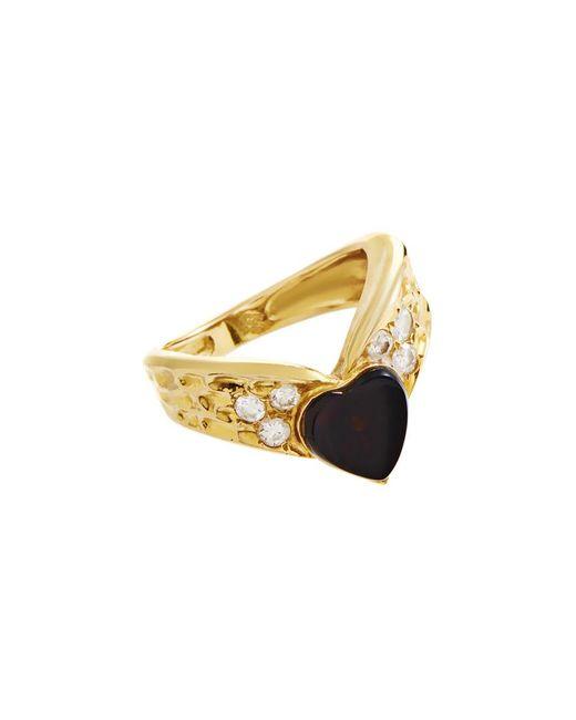 Heritage Van Cleef & Arpels - Metallic Van Cleef & Arpels 18k 0.20 Ct. Tw. Diamond & Onyx Ring - Lyst