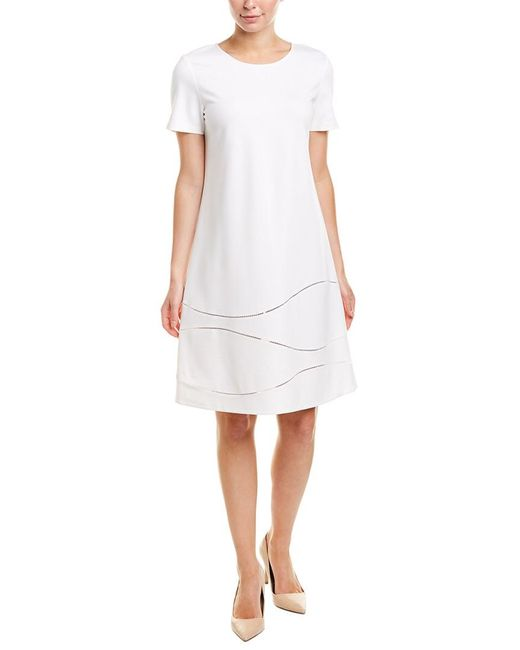 Lafayette 148 New York White Jasmin Shift Dress