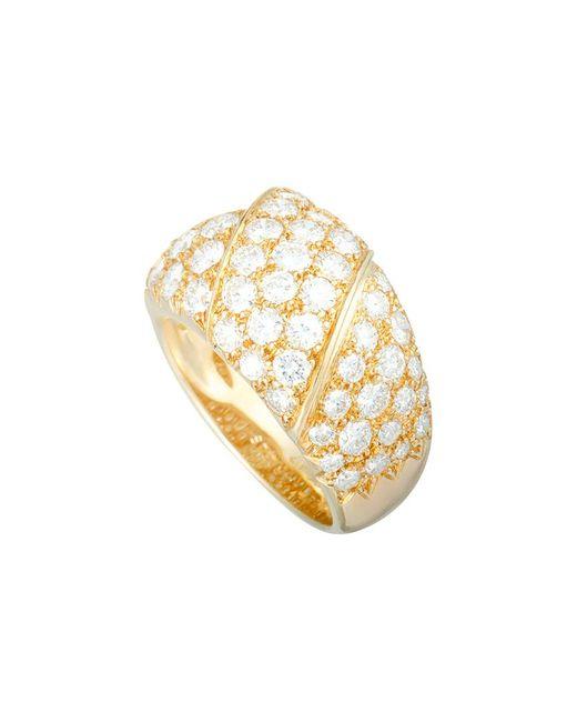 Van Cleef & Arpels Vintage Metallic Van Cleef & Arpels 18k 3.25 Ct. Tw. Diamond Ring