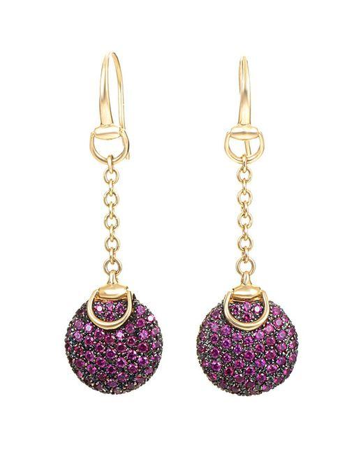 Gucci - Multicolor 18k Ruby Drop Earrings - Lyst