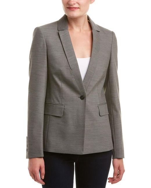 Karen Millen Gray Masculine Tailoring Jacket