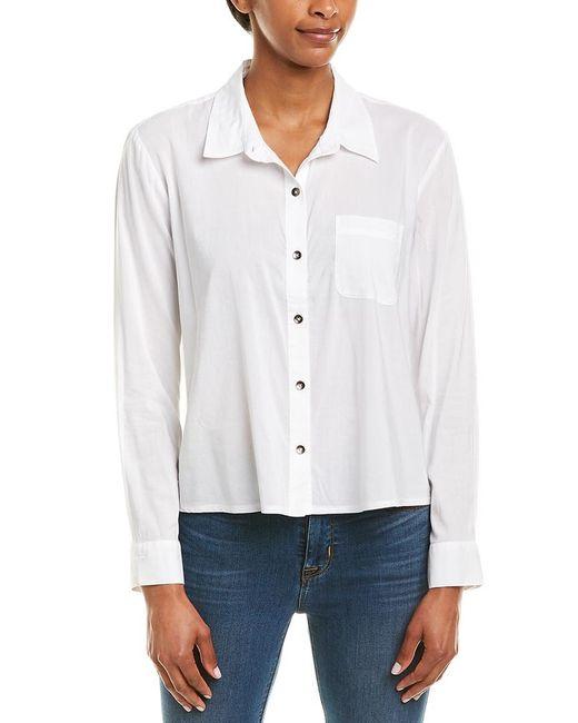 Splendid White Button-up Shirt