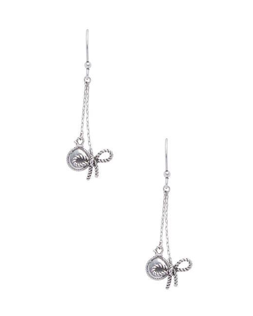 Marc Jacobs - Metallic Bow Drop Earrings - Lyst