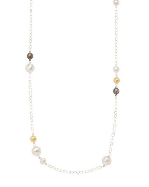 Gurhan - Metallic Long Sterling Silver Necklace - Lyst