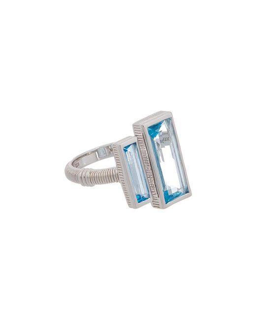 Judith Ripka Metallic Cityscapes Silver 5.20 Ct. Tw. Gemstone Ring
