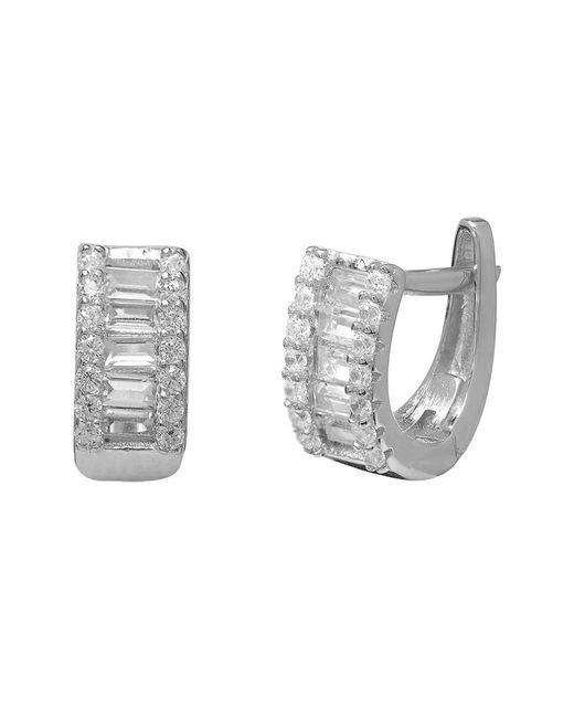 Gabi Rielle Metallic Silver Cz Earrings