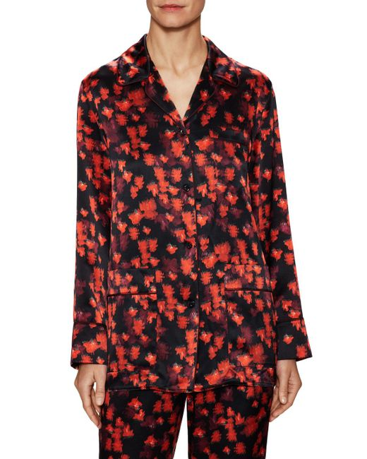 Givenchy - Red Silk Printed Shirt - Lyst