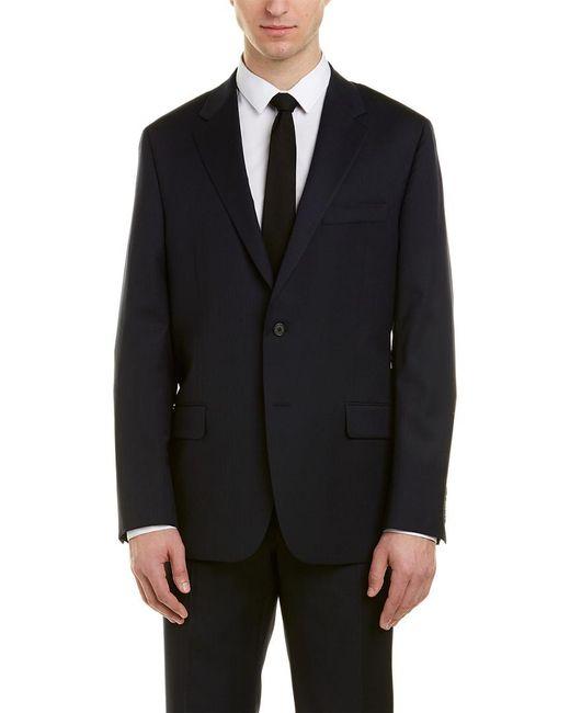 Hickey Freeman Black Milburn Ii Wool Suit for men