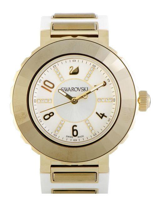Swarovski Metallic Women's Rubber Watch